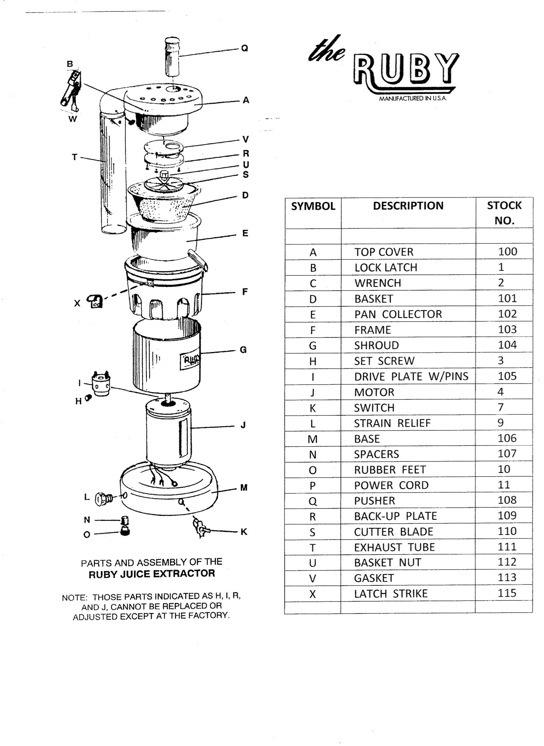 juicer parts